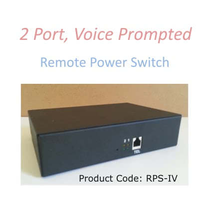 RPS-4  Two Port, Voice Prompted Telephone Activated Remote Power Switch