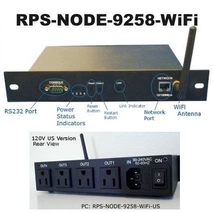 RPS-NODE-9258 4 Port WiFi Network based Remote Power Switch