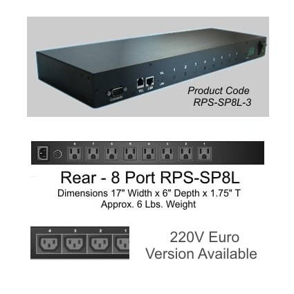 RPS-SP8L – 8 Port Remote Power Switch Control by Web or Telephone