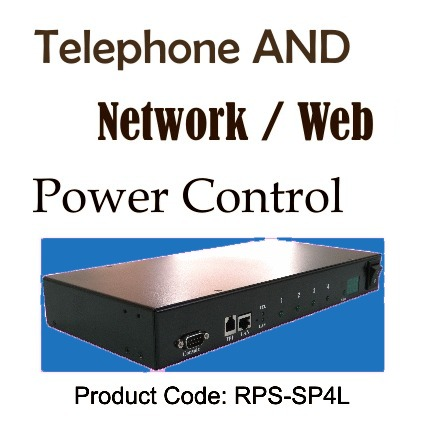 RPS-SP4L – 4 Port Combination Telephone and Network Based Remote Power Switch